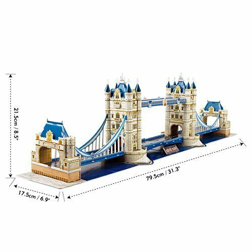 CubicFun Famous Architectures Model Kit Toy 3D Puzzle Game Gift for Children and