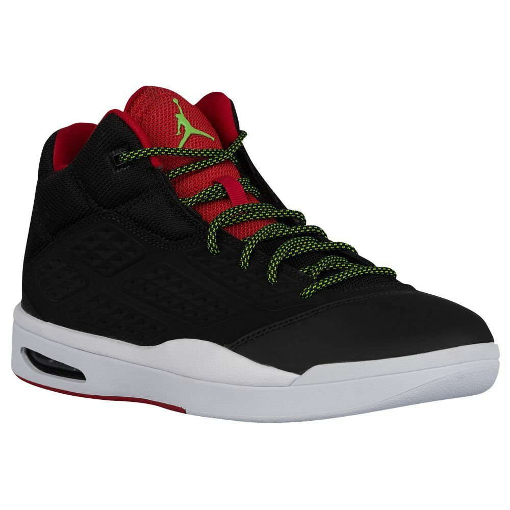768901-013 Air Jordan New School Black Green Pulse-Red-Wht Sizes 10-12 NIB