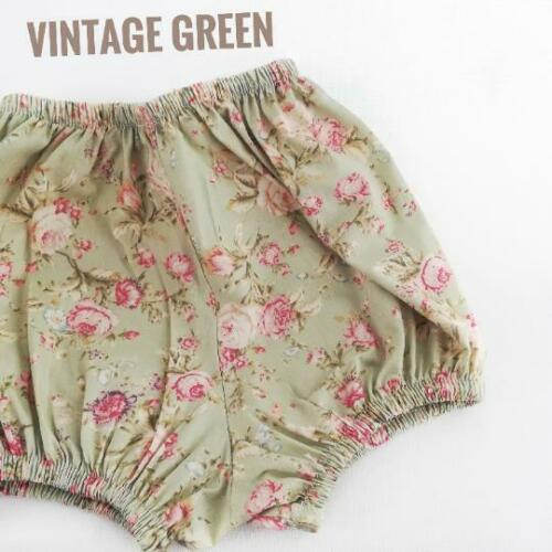 Handmade Vintage Rose Floral Print Baby Bloomers size 0m to 03-04yrs