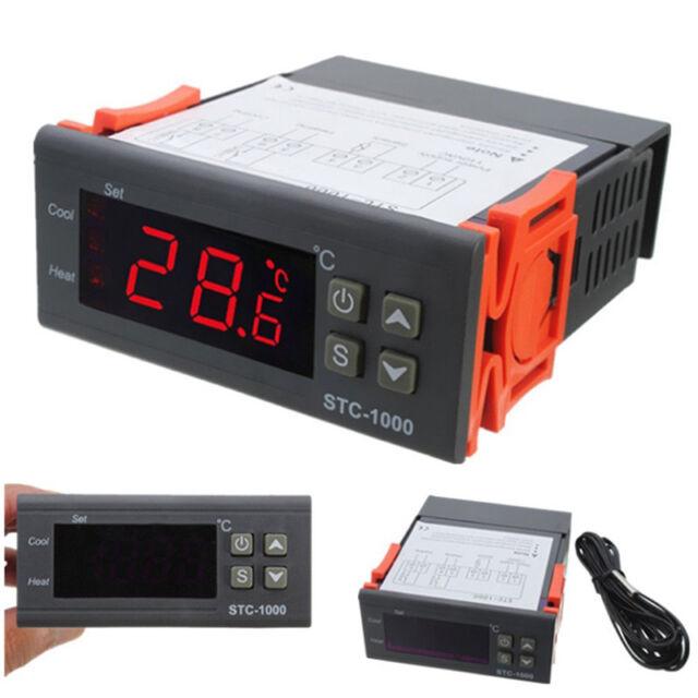 Digital Temperature Controller Thermostat LED Sensor for Incubator AC10A 220V .z