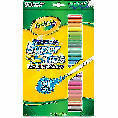 Crayola 50ct Washable Super Tips Markers 50 Color Variety For Sale Online Ebay