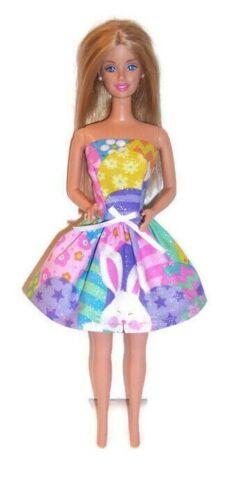 Roupas De Boneca-Coelhinho Com Purpurina//impressão De Ovo vestido sem alças