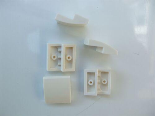 pièces et morceaux 5 x LEGO white plate avec nœud 2x2x2//3-6047220