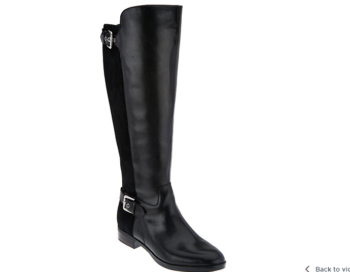Marc Marc Marc Fisher medium Calf Tall Shaft Leather Boots - Damsel BLACK  10M NEW 8b3241