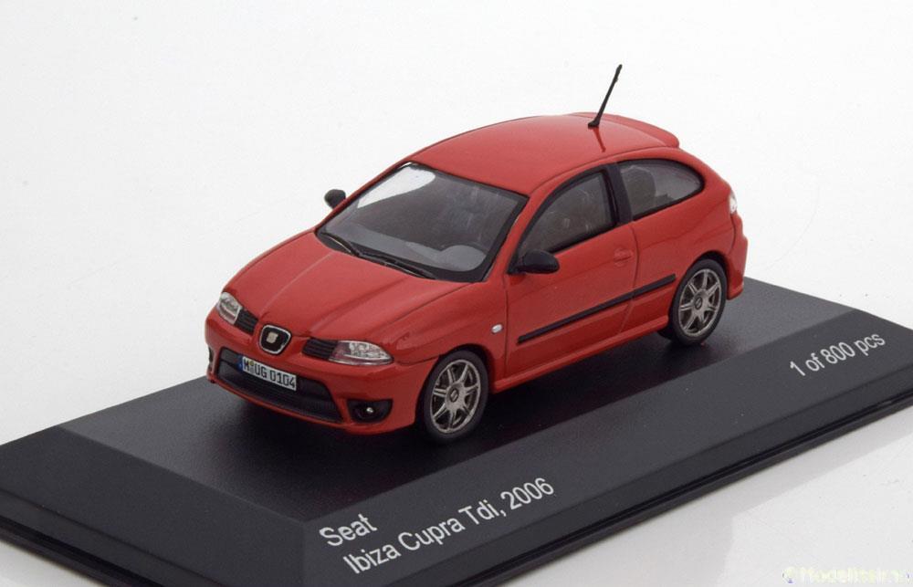SEAT IBIZA CUPRA TDI 2006 RED WHITEBOX WB218 1 43 43 43 red red red DIE CAST MODEL 292861