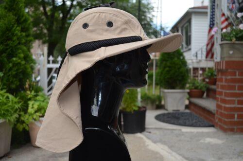 Large Bord déformable Randonnée Safari Fishing Outdoor Neck Flap Hat Sun Cap 8 Couleurs