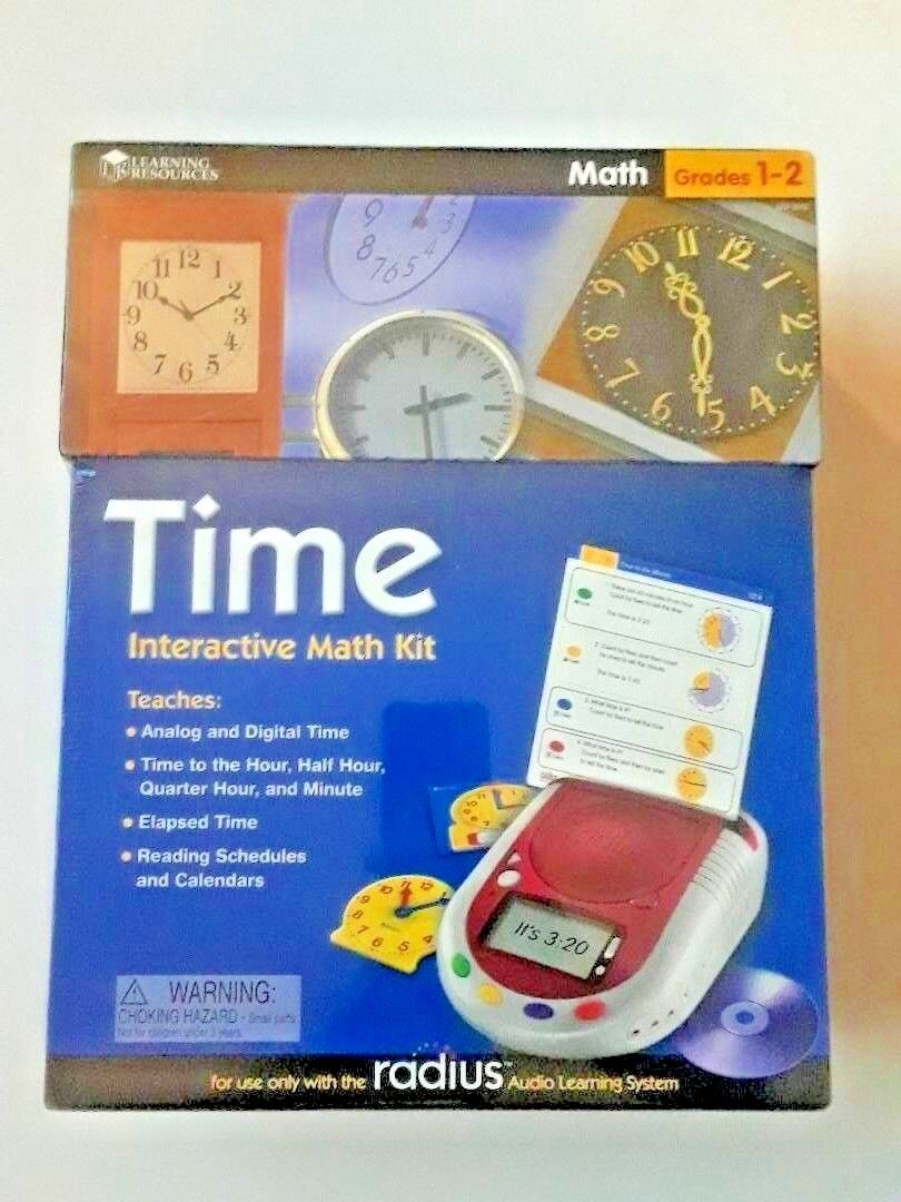 Radius Audio Learning System Grades 1-2 Time Interactive Math Kit   NEW