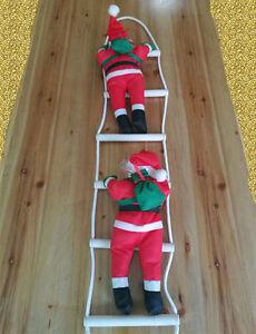 Arrampicata-Babbo-Natale-con-scala-di-corda-1-M-3-FT-ca-0-91-m-Indoor-Outdoor-Decorazione-di-Natale