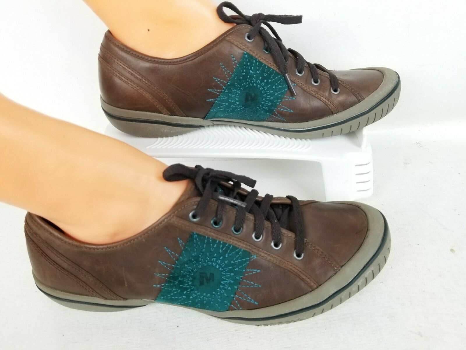 Merrell stardark Marrón Cuero Para mujeres Zapatos Para Caminar Deportiva