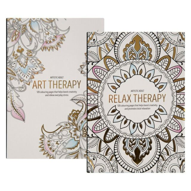120 Page Adult Colouring Book Stress Relief Realxation Art Therapy Colour