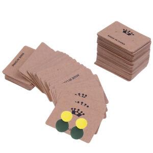 100x-kraft-paper-earring-hanging-card-jewelry-display-ear-studs-holder-packageMC