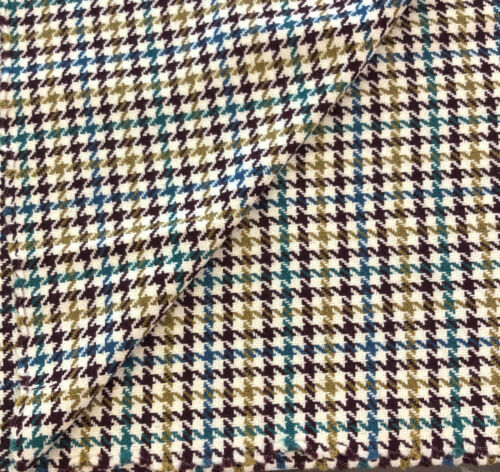Lana Pura Tweed Houndstooth Chaqueta Abrigo Artesanías Costura Falda 2.5m