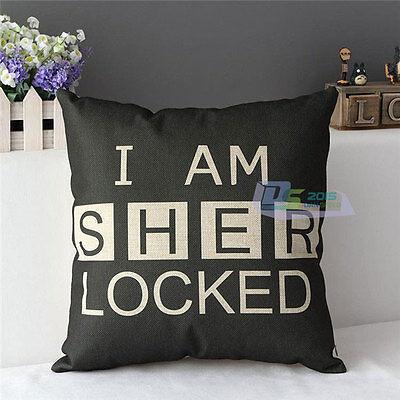 Retro Home Decorative Cotton Linen Pillow Case Cushion Cover Sherlock Holmes Hot