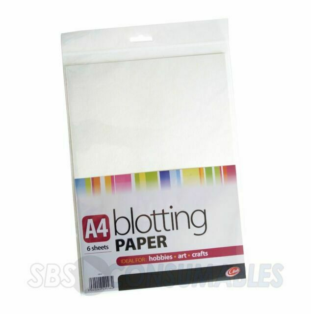 Six Sheets of A4 White Blotting Paper 6 Sheets Absorbent ink for calligraphy
