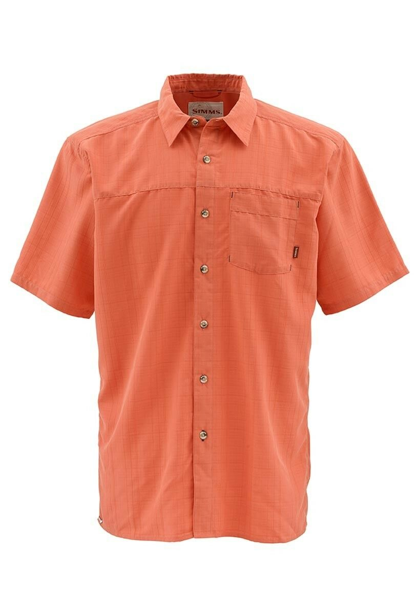 info for 140fa 23908 Simms LONG HAUL Short Sleeve Shirt Salmon NEW Closeout Size Small