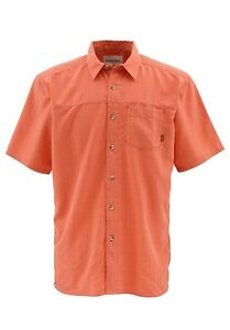 Simms-LONG-HAUL-Short-Sleeve-Shirt-Salmon-NEW-Closeout-Size-Medium