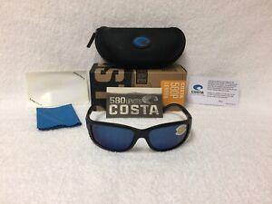 bdec14a77c NEW Costa Del Mar Zane Polarized Sunglasses Black Blue Mirror 580P ...