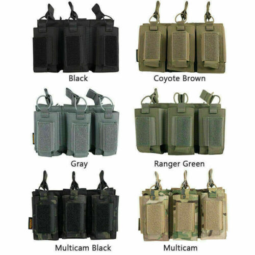1x SPANKER Triple Single Mag Pouch Stacker Bag Open Top Molle Modular Equipment