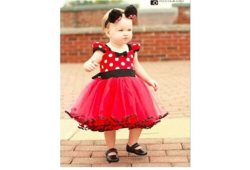 Baby Kids Girls Minnie Mouse Birthday Party Princess Costume Ballet Tutu Dress