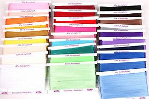 10m-Schraegband-Polyester-Satin-25mm-gefalzt-0-47-m-Einfassband-Farbwahl