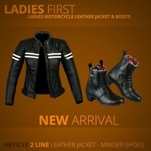 Ladies-Motorcycle-Armoure-Leather-Jacket-Women-Motorbike-Touring-boot-Waterproof