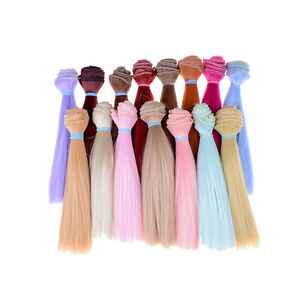 15cm-Length-High-Temperature-Material-Natrual-Color-Thick-Wigs-Doll-Hair-O-ZS