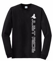 Just Ride Snow Mobile Long Sleeve T Shirt Sled Ski Doo Arctic Cat Yamaha Machine