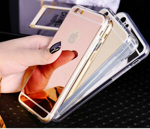 Soft-Silicone-TPU-Luxury-Ultrathin-Mirror-Case-Cover-For-iPhone-6-7-8-Plus-X-Gu