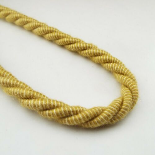 CLEARANCE Lovely 8mm Cord Gold Cream Barley Twist Rope Bag  Belt Costume 1 2 4m