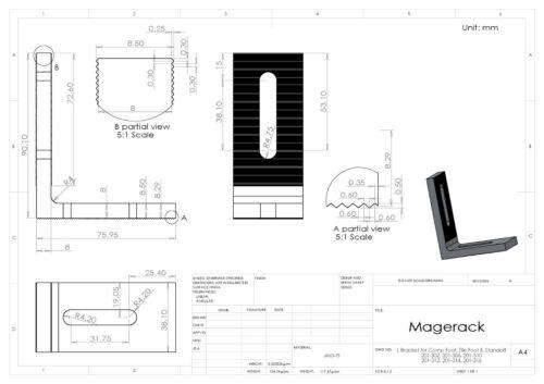 Magerack 10 L Bracket Foot Feet Shingle Comp Roof Solar Panel Mount Rack Install