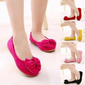 Children-Kids-Baby-Girls-Party-Princess-Shoes-Bow-Bling-Pearl-Single-Dance-Shoes