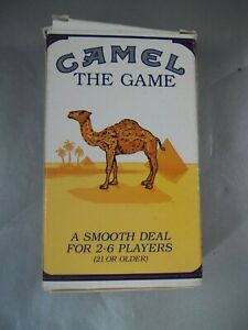 NEW-IN-BOX-1992-CAMEL-PLAYING-CARD-GAME-W-BOOKLET-PENCIL-amp-DICE-BOX-HAS-WEAR
