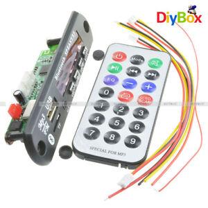 Remote Car Bluetooth Wireless MP3 Decoder Board Audio Module USB SD FM Radio LO
