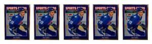 (5) 1992 Sports Cards #133 Joe Sakic Hockey Card Lot Quebec Nordiques