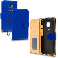 For Samsung Galaxy S7 Active Wallet Flip Case Card Slots Pockets Blue