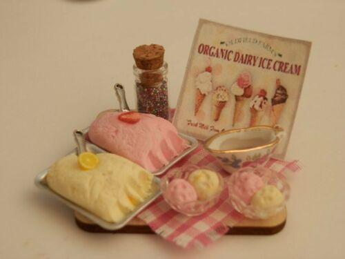 fare gelati Prep Board-by Fran Dolls House Cibo