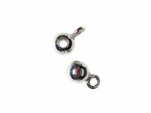 2 Zwischen-Perlen Kugel mit Öse 4 mm 925 Silber Schmuck basteln DIY