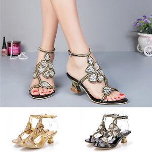 Women-Summer-Luxurious-Rhinestones-Mid-Heel-Sandals-Evening-Dress-Shoes