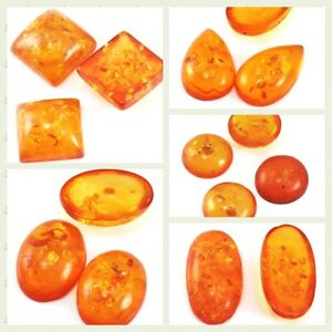 Golden-Man-made-Resin-Amber-Drop-Oval-Half-Round-Square-Cabochon-Pendant-Beads