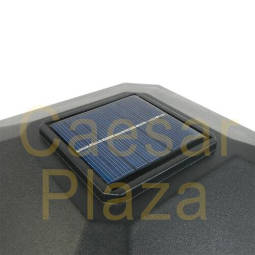 8 Outdoor Garden Black Solar LED Post Deck Cap Square Fence Light Landscape Lamp