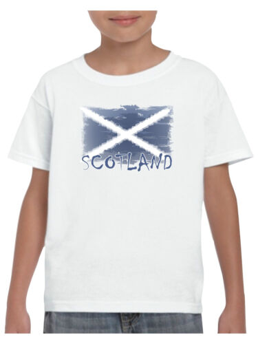 Scotland T Shirt Shabby Flag Football Rugby St Andrews Day for Boys and Girls