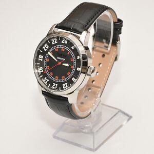 RAKETA-AVIATOR-24-STUNDEN-Spezsakas-russische-Armbanduhr-24H-Uhr-Fliegeruhr