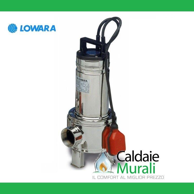 Pumpe SOMMERGIBILE für Gewässer schmutzig LOWARA Modell DOMO 10/B 1 HP einphasig