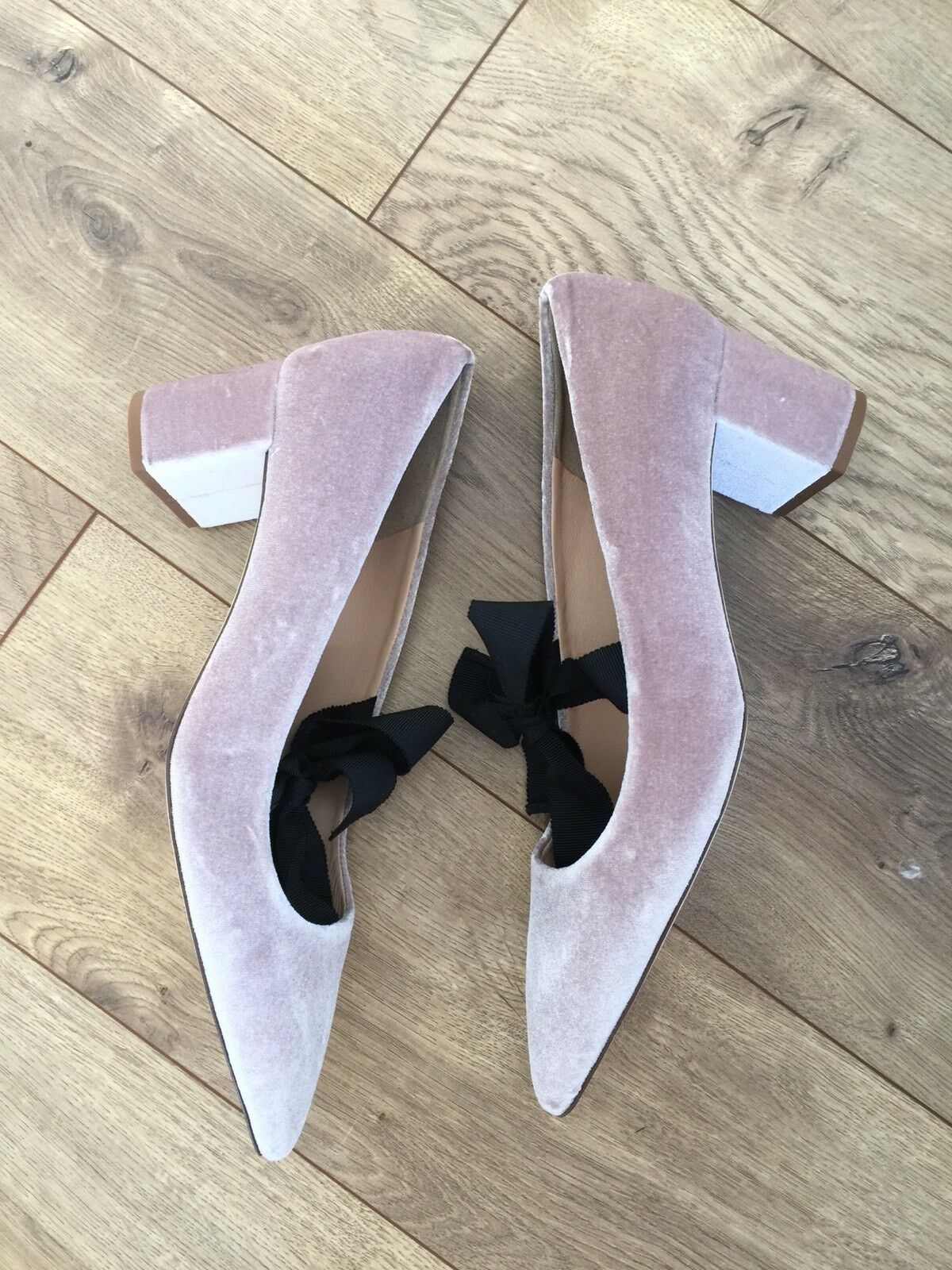NEW J.Crew Avery Velvet Pumps with Bow Sz 10 10 Sz VINTAGE QUARTZ Pink Shoes H1859 128dc8