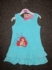 BNWT Girls DISNEY Dress 3-4 Years Ariel Princess Blue Towel Material Beach Hols