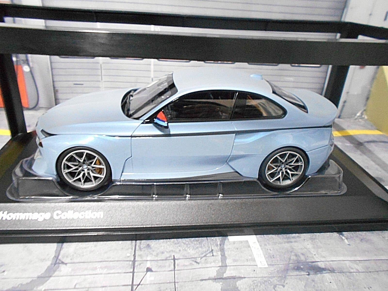 BMW  2002 Tribute m3 m4 Coupe Icebleu bleu Concept Prougeo BMW DEALER nouveau 1 18  marque de luxe