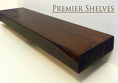 RUSTIC FLOATING SHELVES 9 INCH DEEP HANDMADE BESPOKE SHELF CHUNKY WOODEN