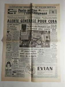 N307-La-Une-Du-Journal-Paris-presse-22-octobre-1962-alerte-generale-pour-Cuba