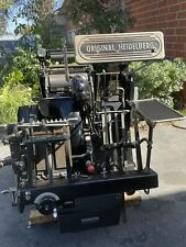 Heidelberg Windmill 10x15 Original Foil Late Model With Lockout Rollers Complete