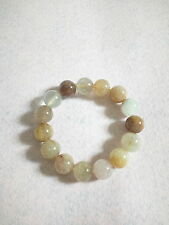 NATURAL 15 MM  TO 15.5 MM RUTILATED QUARTZ CRYSTAL BRACELET (BRAND NEW)